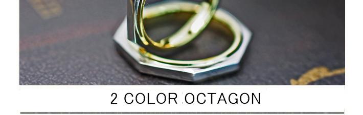 八角形の結婚指輪をプラチナとゴールドでデザインしたオーダー作品の画像